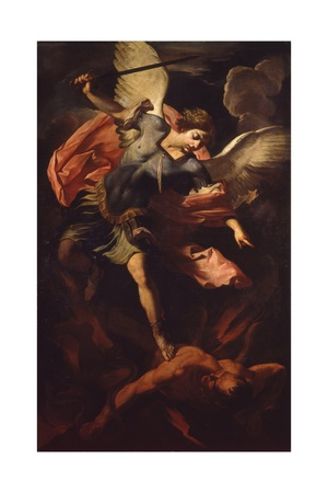 Archangel Michael Defeating Lucifer Posters by Panfilo Nuvolone