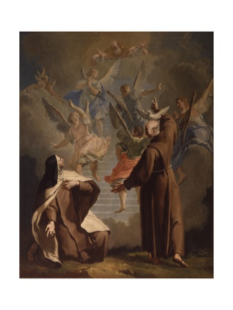 Meeting Between St. Peter D'Alcantare and a Nun Posters by Francesco Fontebasso