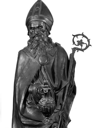Altar of St. Anthony of Padua, Detail of St. Prosdocimo, 1446-53 Photo by  Donatello