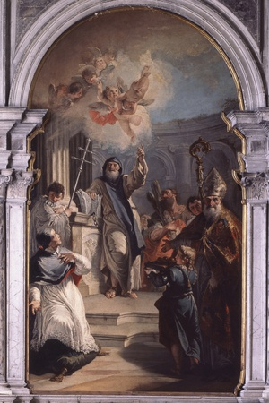 St. Lawrence Giustiniani and Other Saints Photo by Francesco Fontebasso