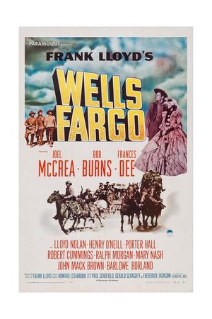 Wells Fargo, Right: Joel Mccrea, Frances Dee, 1937 Print