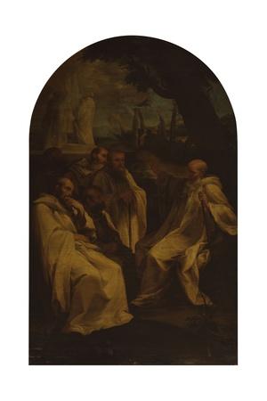 Vision of St. Romoaldo Art by Andrea Sacchi