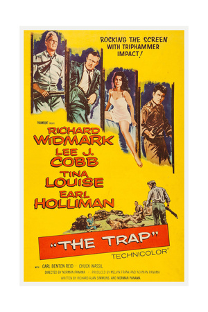 The Trap, from Left: Richard Widmark, Lee J. Cobb, Tina Louise, Earl Holliman, 1959 Poster