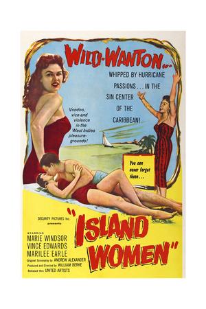 Island Women, from Left: Marilee Earle, Vince Edwards, Marie Windsor, 1958 Posters