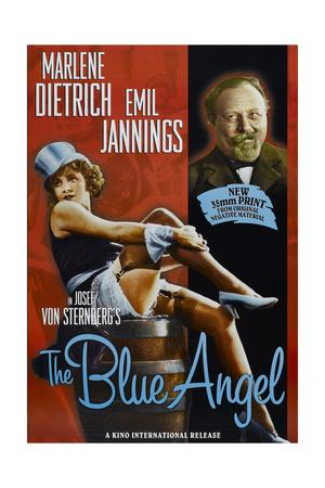 The Blue Angel, Marlene Dietrich, Emil Jannings, 1930 Print