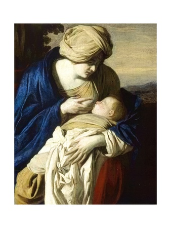 Virgin Mary with Nursing Baby Jesus Plakater af Aniello Falcone