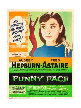 Funny Face, L-R: Audrey Hepburn, Fred Astaire on 1957 Prints