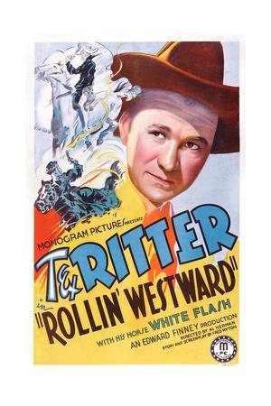 Rollin' Westward, Tex Ritter, 1939 Art