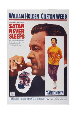 Satan Never Sleeps, from Left: William Holden, France Nuyen, 1962 Prints