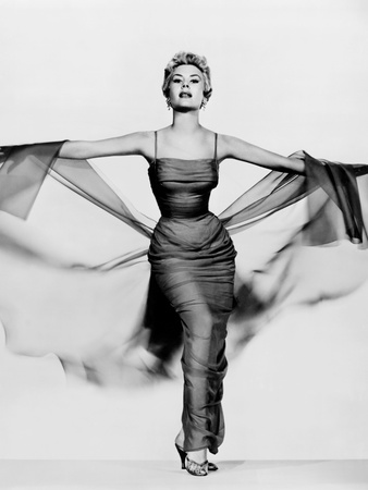 The Birds and the Bees, Mitzi Gaynor, in a Gown by Edith Head, 1956 Photo