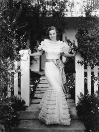 Little Man, What Now, Margaret Sullavan, in a Gown by Vera West, 1934 Foto