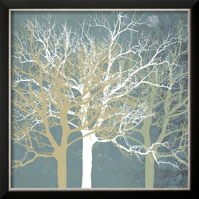 Tranquil Trees Framed Giclee Print by Erin Clark