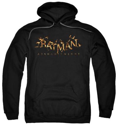 Hoodie: Batman: Arkham Knight - Arkham Knight Flame Logo Pullover Hoodie