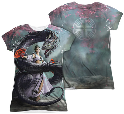 Juniors: Anne Stokes - Dragon Dancer (Front - Back Print) Shirts