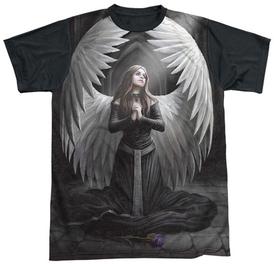 Anne Stokes - Prayer For The Fallen Black Back T-Shirt