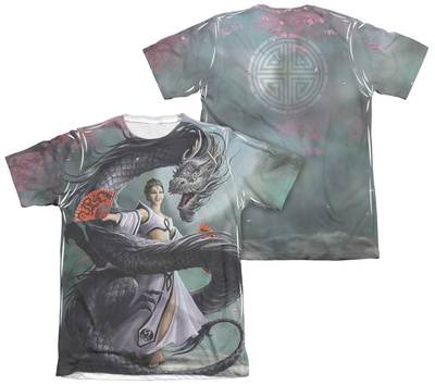 Anne Stokes - Dragon Dancer (Front - Back Print) T-shirts