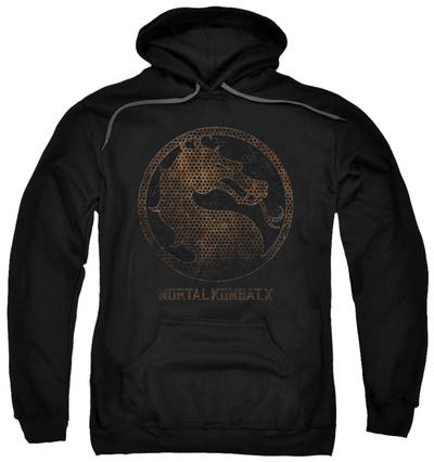 Hoodie: Mortal Kombat X - Metal Seal Pullover Hoodie