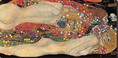 Serpientes acuáticas II, 1904-07 Reproducción de lámina sobre lienzo por Gustav Klimt