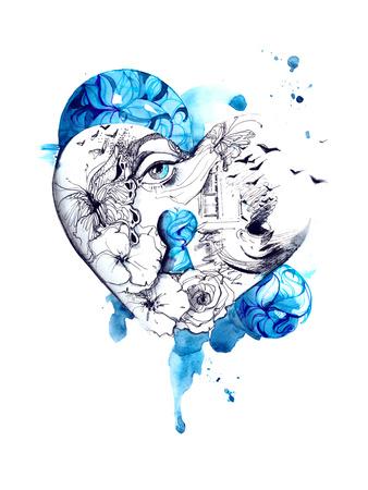 Heart Posters by  okalinichenko