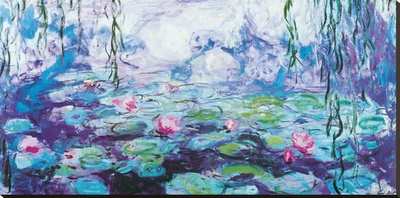 Waterlilies Stretched Canvas Print by Claude Monet