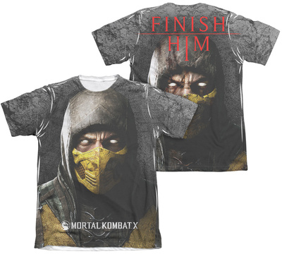 Mortal Kombat X - Finish Him (Front - Back Print) T-shirts