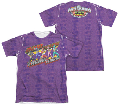 Power Rangers - Taking Charge (Front - Back Print) T-shirts