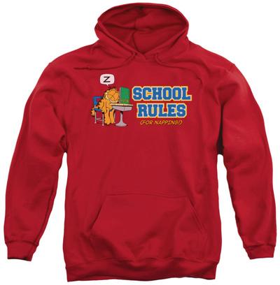 Hoodie: Garfield - School Rules Pullover Hoodie