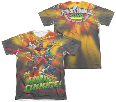 Power Rangers - Hashtag (Front - Back Print) T-shirts