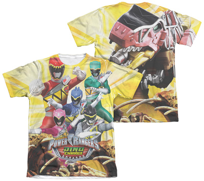 Power Rangers - Charged For Battle (Front - Back Print) T-Shirt