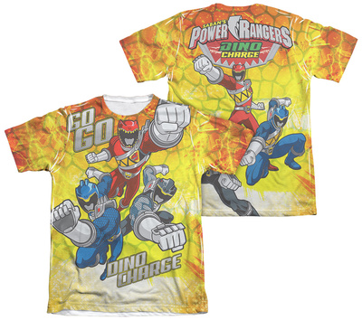 Power Rangers - Go Go Dino Charge (Front - Back Print) T-shirts
