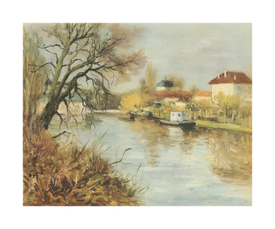 By The Towpath Premium Giclee Print by Marcel Dyf