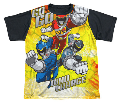 Youth: Power Rangers - Go Go Dino Charge Black Back T-shirts