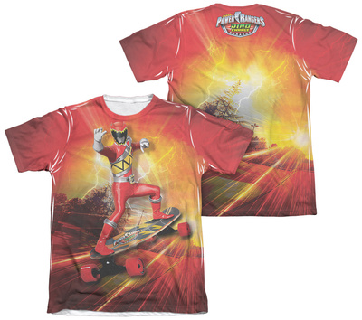 Power Rangers - Skater (Front - Back Print) T-Shirt