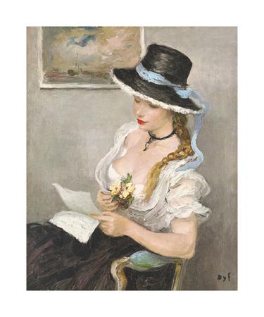 The Sonnet Premium Giclee Print by Marcel Dyf