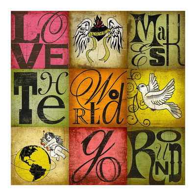 Love Makes the World Go Round Posters by Suzanna Anna