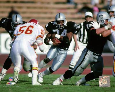 Bo Jackson 1990 Action Photo