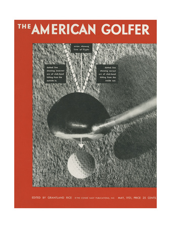 The American Golfer Cover - May 1931 Giclee Print