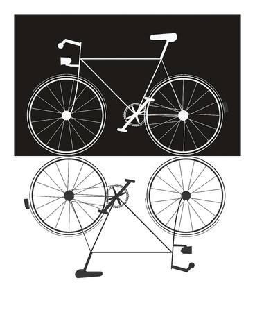 Two Bikes Prints by Jan Weiss