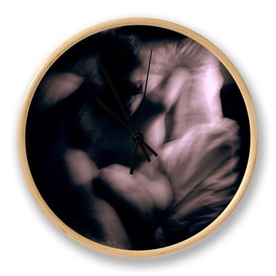Chiara in the Nude Blindfolded Clock by Edoardo Pasero