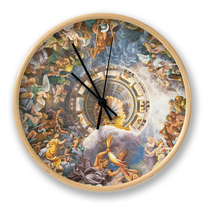 The Gods of Olympus, Trompe L'Oeil Ceiling from the Sala Dei Giganti, 1528 Clock by Giulio Romano