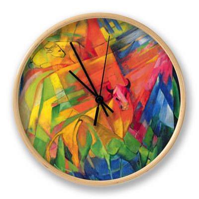 Animals in a Landscape, 1914 Clock by Franz Marc