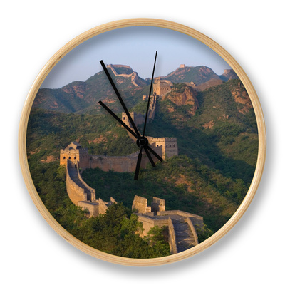 The Great Wall, Near Jing Hang Ling, Unesco World Heritage Site, Beijing, China Clock by Adam Tall