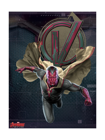 Avengers 2: Age of Ultron movie poster art of Vision