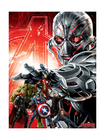 Avengers 2: Age of Ultron movie poster art of the team