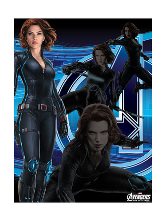 Avengers 2: Age of Ultron movie poster art of Black Widow