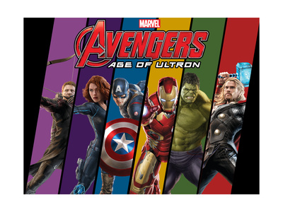 Avengers 2: Age of Ultron movie poster art with Hawkeye, Black Widow, Captain America, Iron Man, Hulk, and Thor
