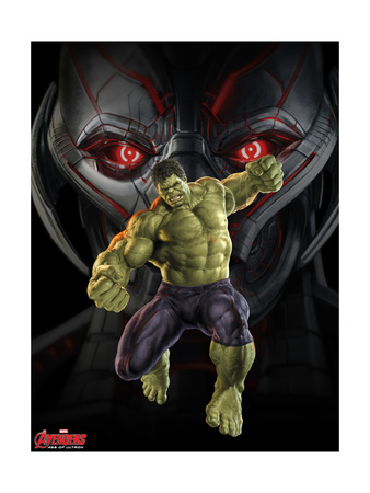 Avengers 2: Age of Ultron poster art with Hulk fighting Ultron