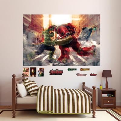 Hulk vs Hulkbuster Mural Wall Mural