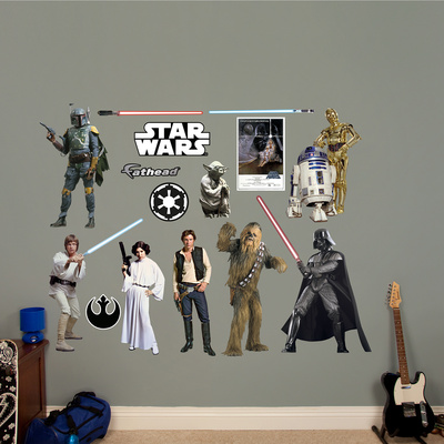 Star Wars Original Trilogy Characters Collection Wall Decal