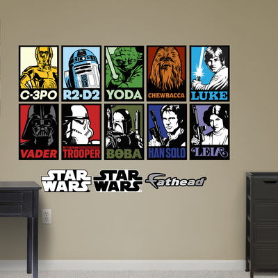Star Wars Fathead Wall Decal Portrait Collection Classic Trilogy Jedi Sith Heroes and Villains